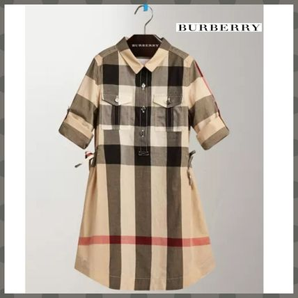 Long Sleeves Cotton Medium Shirt Dresses Dresses