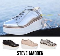 Steve Madden Platform Casual Style Street Style Plain Leather