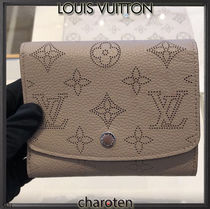 Louis Vuitton MAHINA Monogram Calfskin Plain Coin Purses