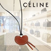 CELINE Casual Style Blended Fabrics Leather Brass