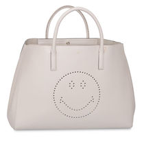 Anya Hindmarch A4 Plain Leather Elegant Style Totes