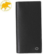 HUNTING WORLD Plain Leather Long Wallets