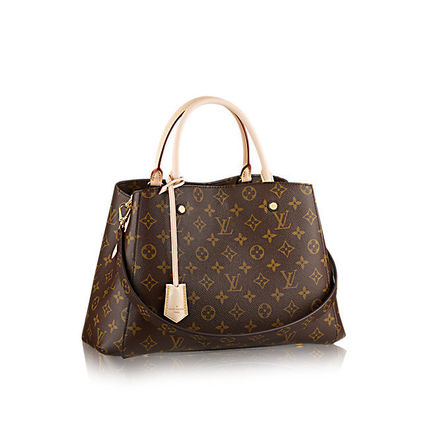 Louis Vuitton Totes Monogram Canvas A4 2WAY Office Style Totes 2