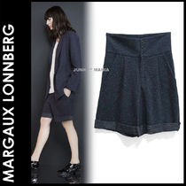Margaux Lonnberg Short Dots Cotton Elegant Style Denim & Cotton Shorts