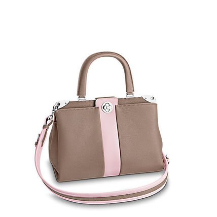Louis Vuitton Handbags 2WAY Plain Leather Elegant Style Handbags 11