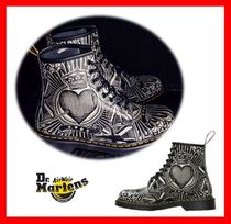 Dr Martens Unisex Street Style Leather Mid Heel Boots