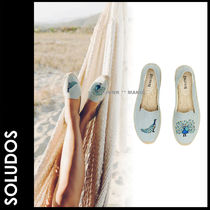 SOLUDOS Plain Toe Casual Style Other Animal Patterns Slip-On Shoes