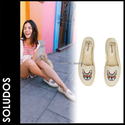 Plain Toe Casual Style Other Animal Patterns Flats
