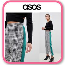 ASOS Gingham Casual Style Long Pants