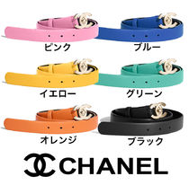 CHANEL Casual Style Leather Belts