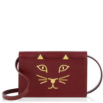 Charlotte Olympia Saffiano 2WAY Plain Other Animal Patterns Bold Shoulder Bags