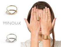 MINOUX Costume Jewelry Casual Style Silver Rings