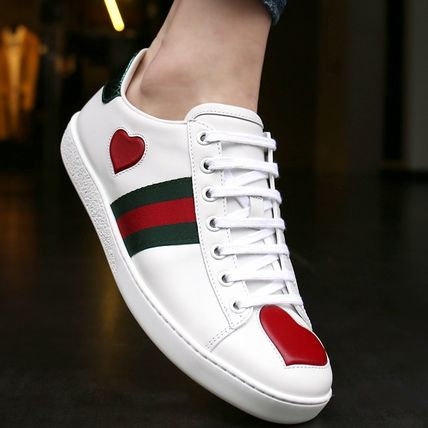 28e1ddaff11 GUCCI 2018 SS Leather Low-Top Sneakers (435638A38M09074) by burgundy ...