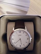 Fossil Casual Style Unisex Leather Round Quartz Watches