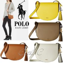 Ralph Lauren Casual Style Tassel Street Style Plain Leather Shoulder Bags