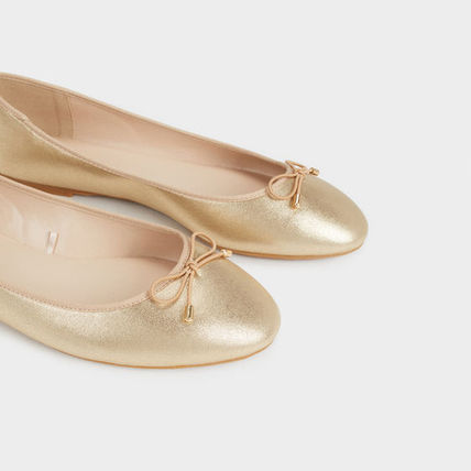 PARFOIS Ballet Faux Fur Plain Ballet Shoes 15