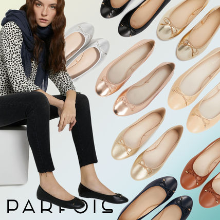 PARFOIS Ballet Faux Fur Plain Ballet Shoes