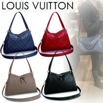 Louis Vuitton MONOGRAM EMPREINTE Monogram Casual Style A4 2WAY Plain Leather Shoulder Bags