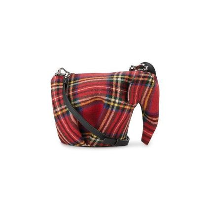 1dc88e8ed5 LOEWE 2018 SS Tartan Casual Style Blended Fabrics Leather Shoulder ...