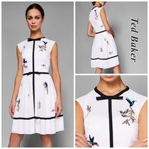 TED BAKER A-line Sleeveless Other Animal Patterns Elegant Style