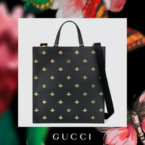 GUCCI Star Leather Totes