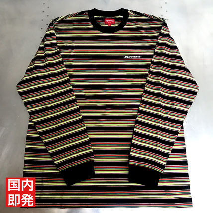 Supreme 2018 Ss Stripes Street Style U Neck Long Sleeves Cotton By Glamswag Ma