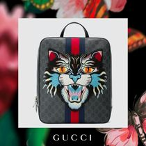 GUCCI Canvas Other Animal Patterns Backpacks