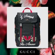 GUCCI Flower Patterns Canvas Street Style Other Animal Patterns