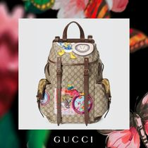 GUCCI Street Style Other Animal Patterns Backpacks