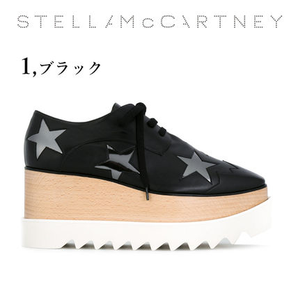 Stella McCartney Low-Top Star Plain Leather Elegant Style Low-Top Sneakers 3