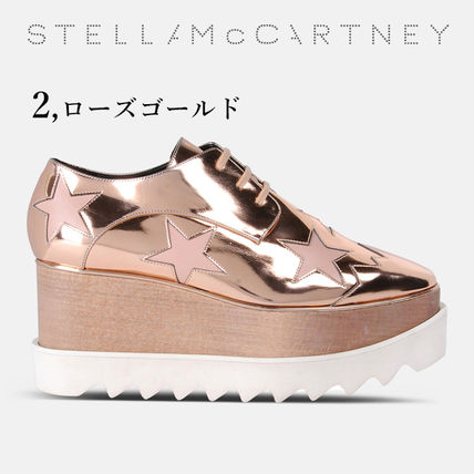 Stella McCartney Low-Top Star Plain Leather Elegant Style Low-Top Sneakers 5