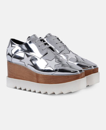 Stella McCartney Low-Top Star Plain Leather Elegant Style Low-Top Sneakers 8