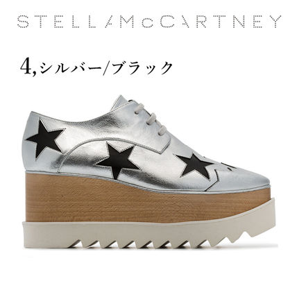 Stella McCartney Low-Top Star Plain Leather Elegant Style Low-Top Sneakers 9