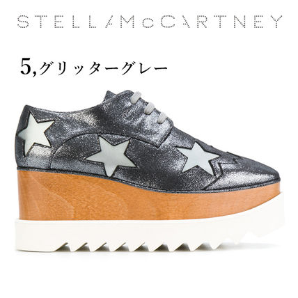Stella McCartney Low-Top Star Plain Leather Elegant Style Low-Top Sneakers 11