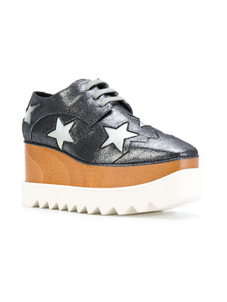 Stella McCartney Low-Top Star Plain Leather Elegant Style Low-Top Sneakers 12