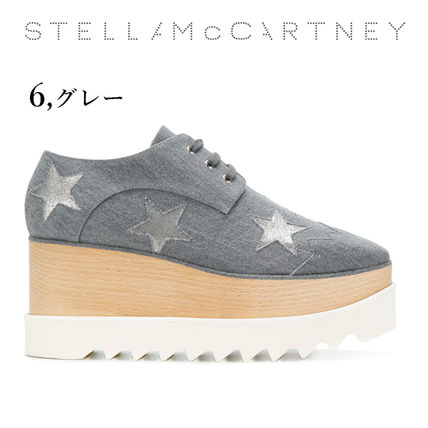 Stella McCartney Low-Top Star Plain Leather Elegant Style Low-Top Sneakers 13