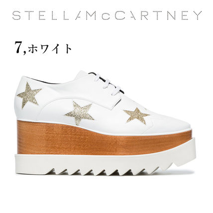 Stella McCartney Low-Top Star Plain Leather Elegant Style Low-Top Sneakers 15