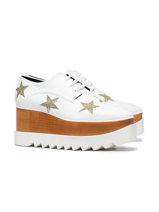 Stella McCartney Low-Top Star Plain Leather Elegant Style Low-Top Sneakers 16