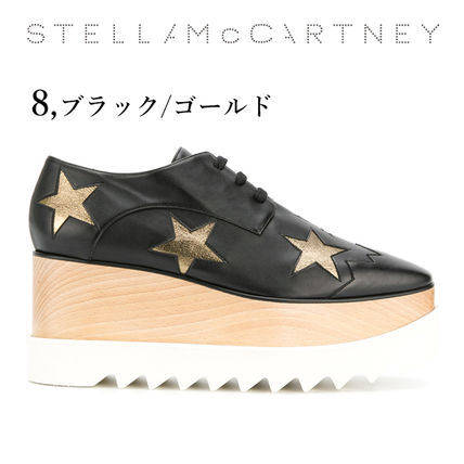 Stella McCartney Low-Top Star Plain Leather Elegant Style Low-Top Sneakers 17