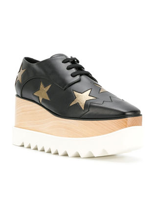 Stella McCartney Low-Top Star Plain Leather Elegant Style Low-Top Sneakers 18