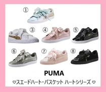 PUMA Round Toe Rubber Sole Lace-up Casual Style Street Style