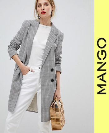 Other Check Patterns Long Jackets