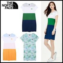 THE NORTH FACE Casual Style V-Neck Plain Cotton Medium Short Sleeves