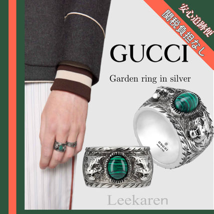 49eab6998bc GUCCI 2018 Cruise Street Style Other Animal Patterns Silver Rings ...