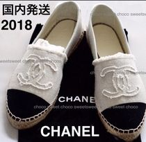 CHANEL Round Toe Casual Style Flats