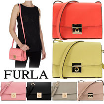FURLA MILANO Casual Style Plain Leather Shoulder Bags