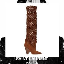 Saint Laurent Casual Style Suede Ankle & Booties Boots