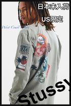 STUSSY Street Style Cotton Logos on the Sleeves T-Shirts