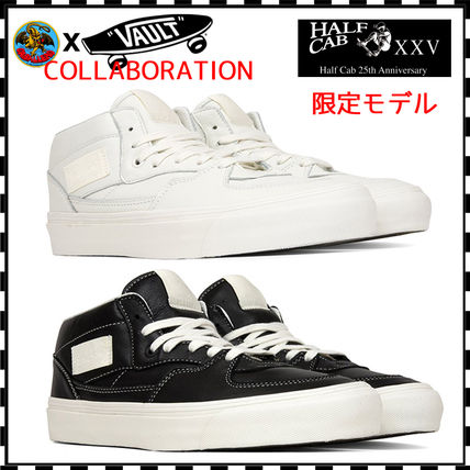 Street Style Collaboration Bi-color Plain Leather Sneakers