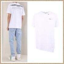 Off-White Cotton Short Sleeves T-Shirts